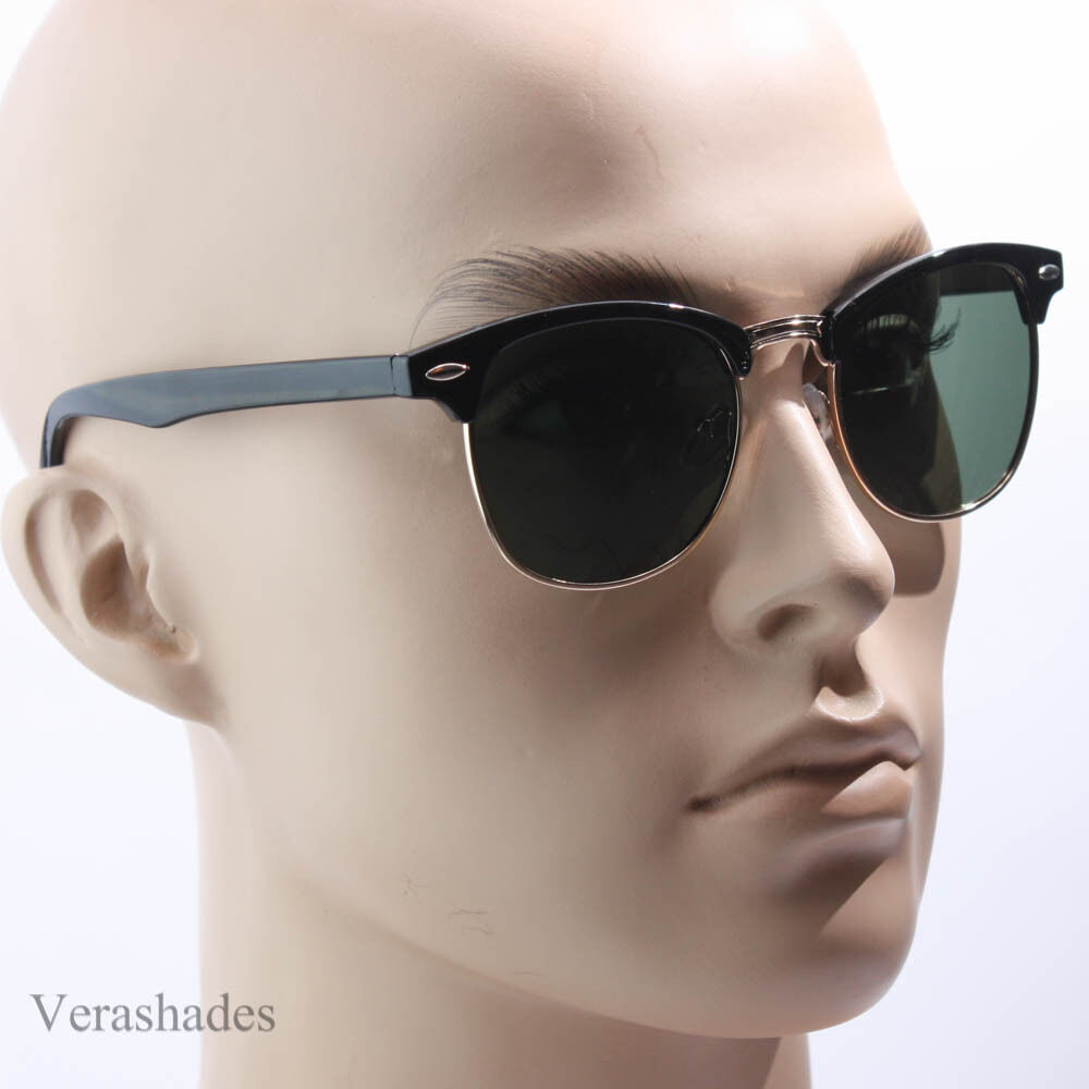 Polarized Clubmaster Sunglasses Men's Womens Vintage ...