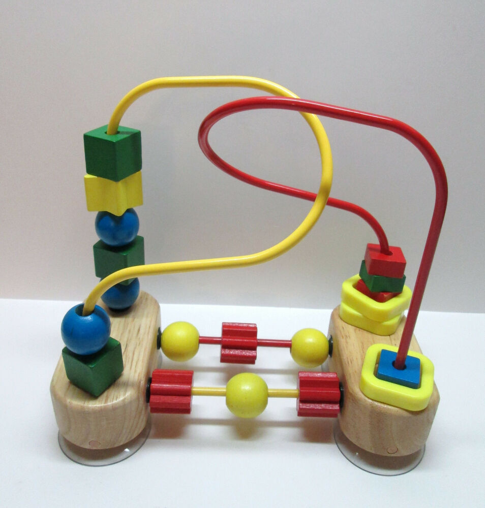 Preschool Manipulative Toys : Melissa doug first bead maze wood manipulative toy for