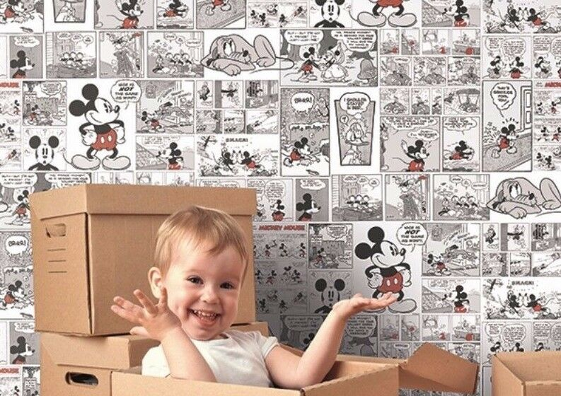 mickey mouse classic rasch textil tapete comics more. Black Bedroom Furniture Sets. Home Design Ideas