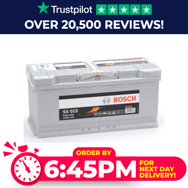 020 Bosch S5015 12V 110Ah Car Battery Fits Many Audi BMW