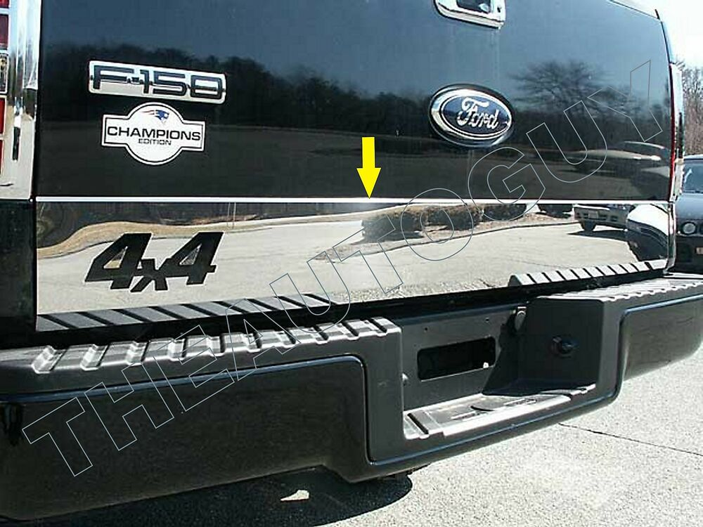 2004 2005 2006 2007 2008 Ford F150 Stainless Tailgate Trim