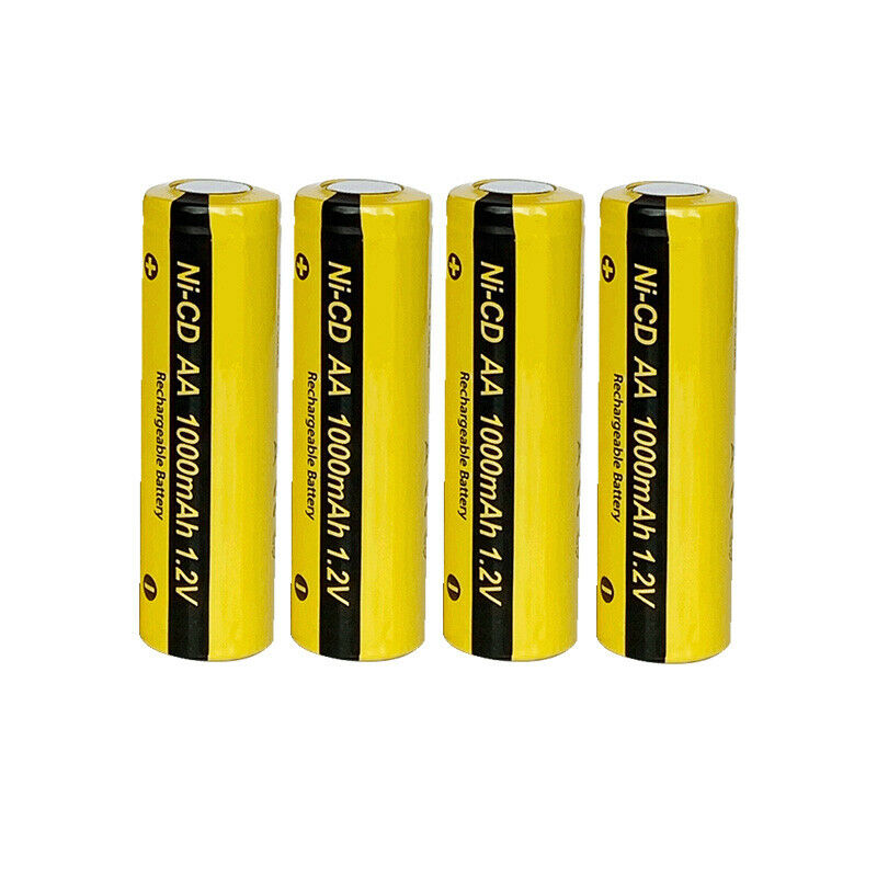 4pcs aa 1000mah 1 2v nicd rechargeable double a batteries flat top pkcell ebay. Black Bedroom Furniture Sets. Home Design Ideas