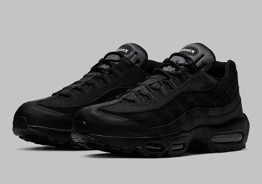 Details about Nike Air Max 95 Mens UK Size 7 - 11 609048-092 Brand New  Triple Black Size UK 7 ae9613472