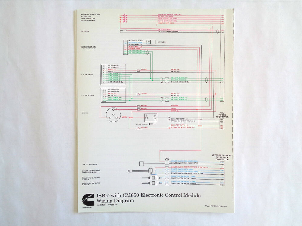Magnificent Cummins Isbe4 With Cm850 Electronic Control Module Wiring Diagram Ebay Wiring Cloud Hisonuggs Outletorg