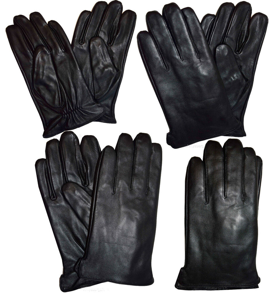 Men's Leather Gloves, Size (L) Dress Gloves, Winter Gloves