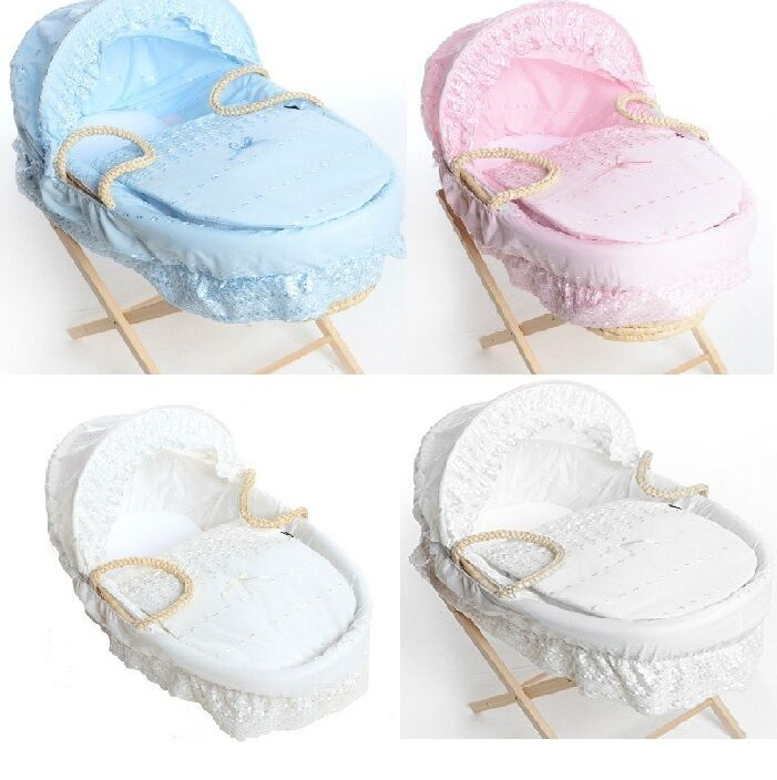 Broderie Anglaise Spare Replacement Moses Basket Dressing
