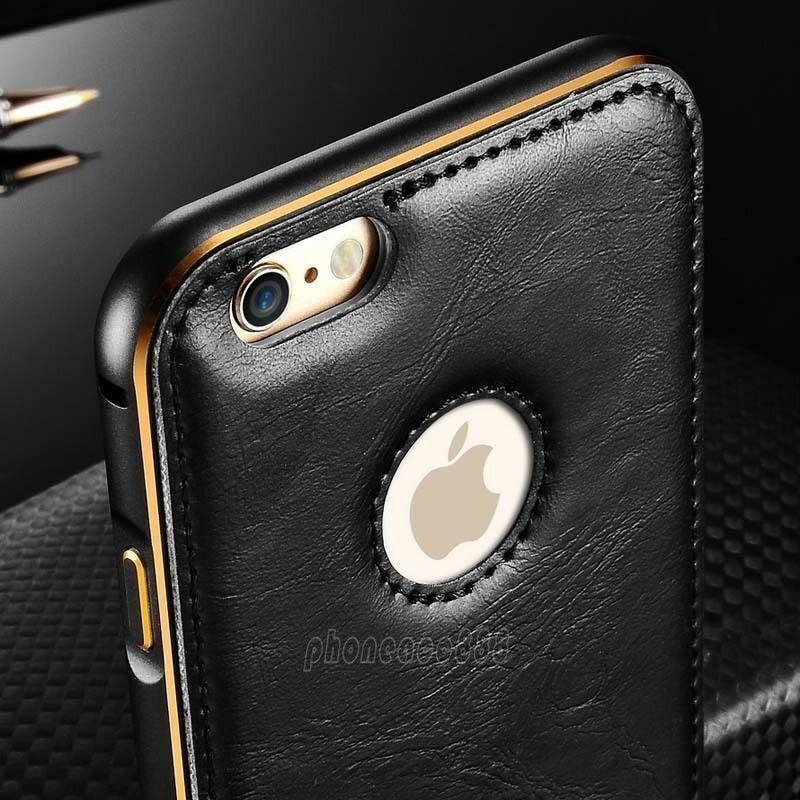 aluminum iphone 5s case luxury leather aluminum metal bumper frame cover for 6230