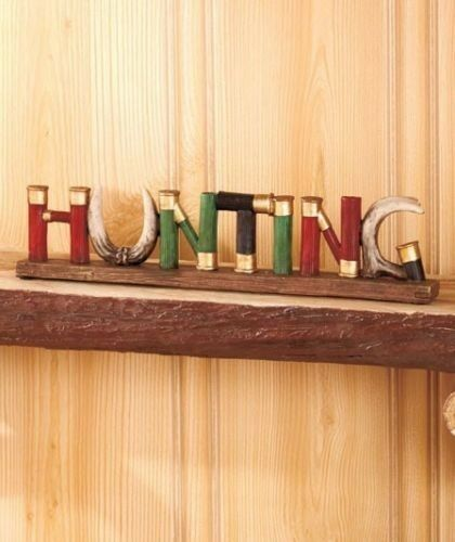 shell hunting 3d word sign antler lodge cabin wall decor ebay