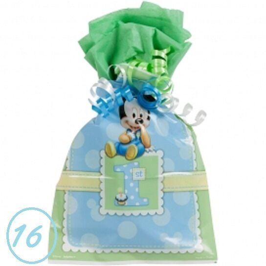 16 Baby Mickey Mouse Favor Goody Bags First 1st Birthday