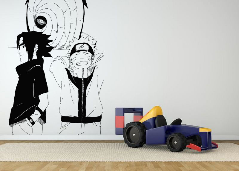 Wall room decor art vinyl sticker mural decal naruto for Mural naruto