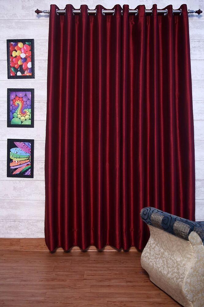 Red Faux Silk Curtains 51 inch 130 cm Wide Choice of