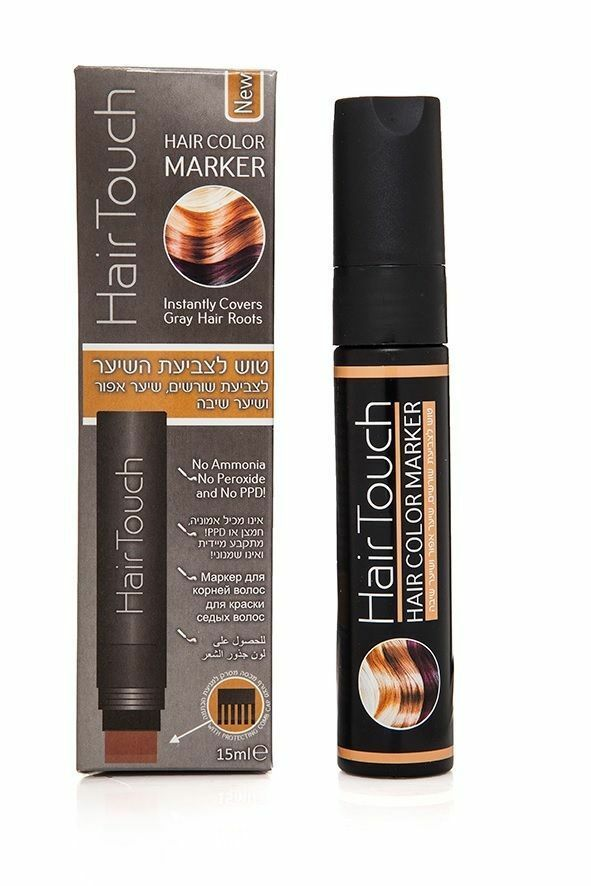 Hair Touch Hair Color Marker Instantly Covers Gray Hair Roots 15ml ...