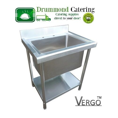 New Commercial Stainless Steel Kitchen Sink Single Bowl Deep Pot Wash 780mm Ebay