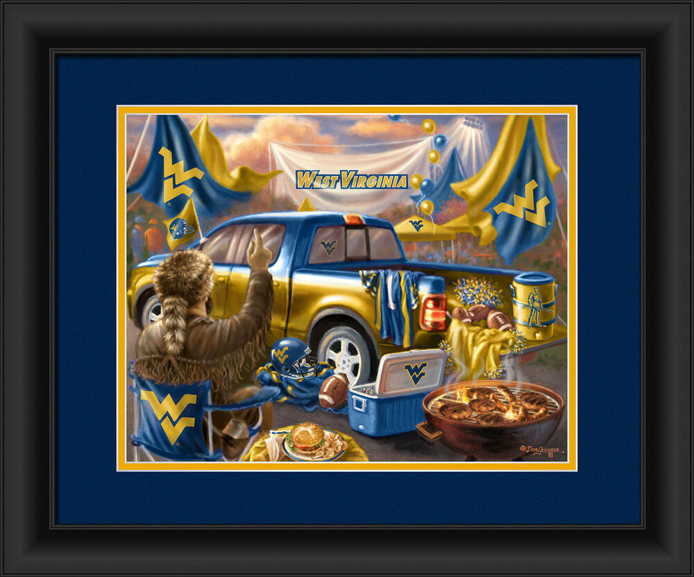 Man Cave Posters For Sale : West virginia mountaineers framed tailgate print poster