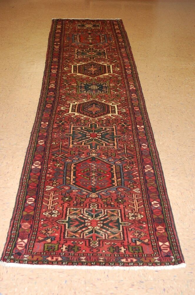 C1930s Antique Persian Heriz Karaje Serapi Runner Rug 2