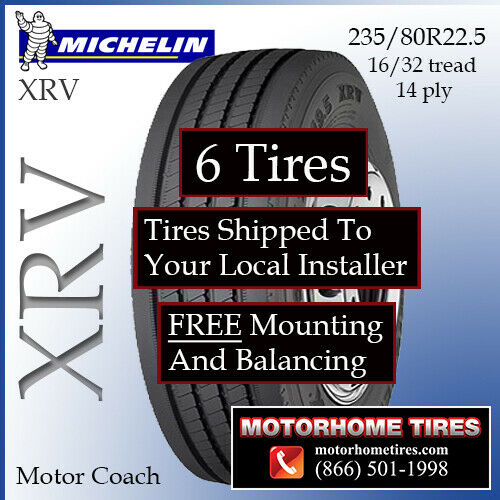 235 80r22 5 xrv motor home tire includes shipping for Ebay motors shipping company