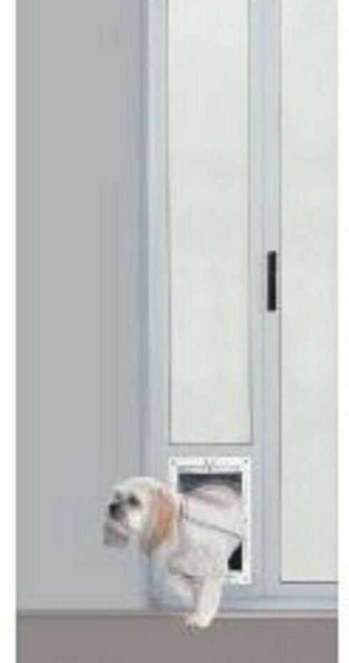 Patio Panel Pet Door Dog Cat Sliding Glass Aluminum Flap