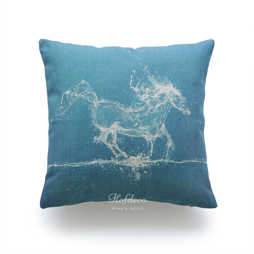 Throw Pillow Case Turquoise Water Horse HEAVY WEIGHT  : s l1000 from www.ebay.com size 1000 x 1000 jpeg 131kB