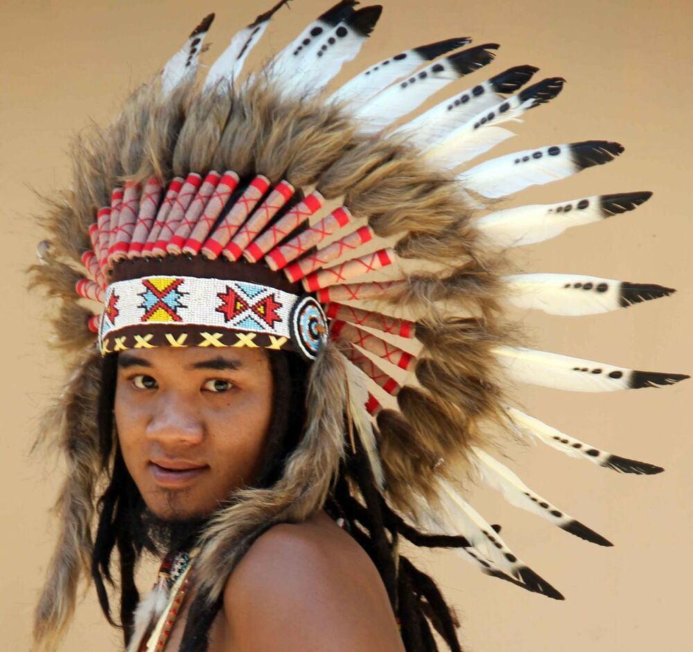 indian headdress black and white feathers, feather ...