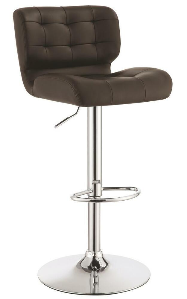 Adjustable Brown Tufted Upholstery Bar Stool By Coaster