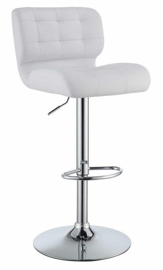 Adjustable White Tufted Upholstery Bar Stool by Coaster  : s l1000 from www.ebay.com size 545 x 900 jpeg 18kB