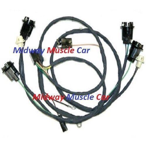 rear body tail light wiring harness 69 chevy chevelle ... chevy head light tail light wiring diagram painless gm tail light wiring #7