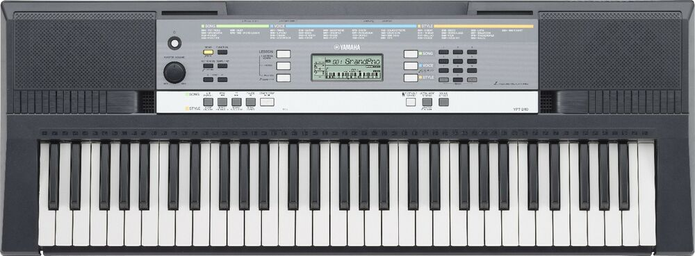 yamaha ypt 240 61 key electric portable keyboard with. Black Bedroom Furniture Sets. Home Design Ideas
