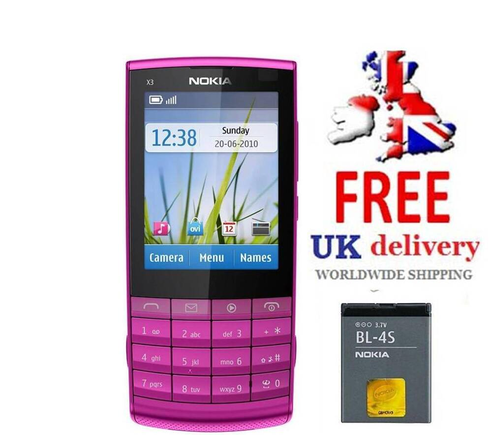 I Like The New Touch Of Pink In: Nokia X3-02 New Condition Touch And Type Pink 3G Unlocked