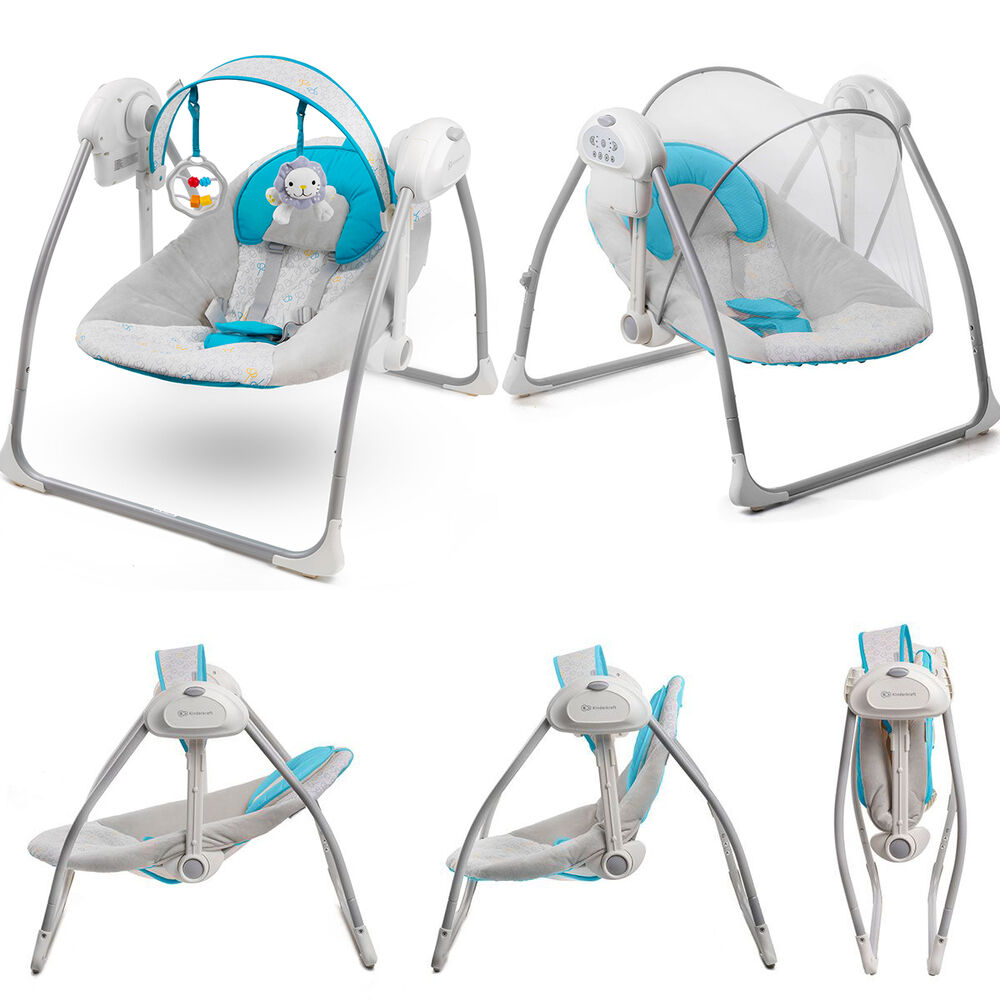 Kinderkraft Nani Blue Baby Bouncing Chair Swing Seat