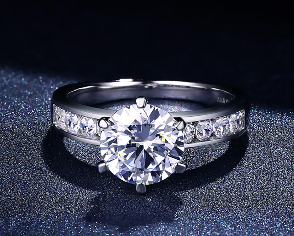 1 1 2 CT D Si1 Solitaire Round Cut Diamond Engagement Ring 14K White Gold