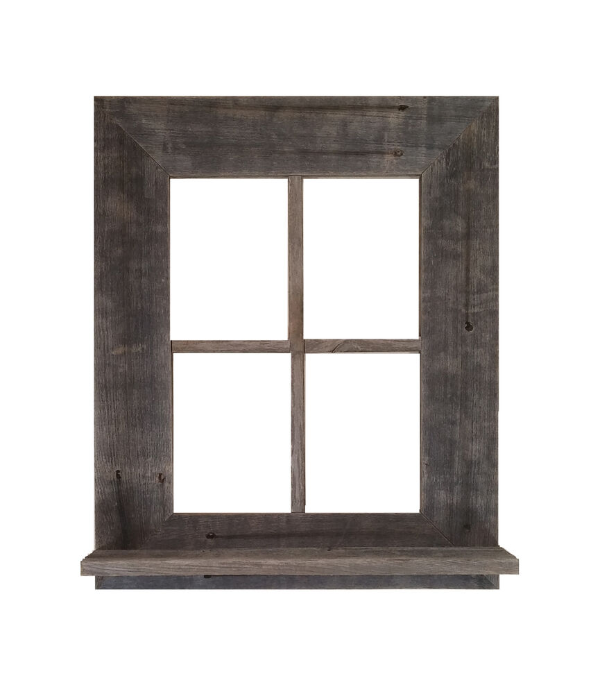 Reclaimed Rustic Barn Wood Window Frame With Shelf (Not ...