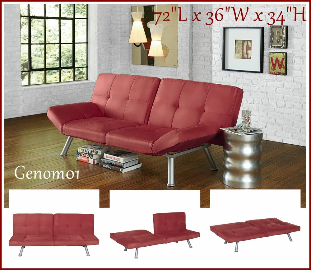 Futon Sofa Bed CONVERTIBLE Guest Sleeper Microfiber Living