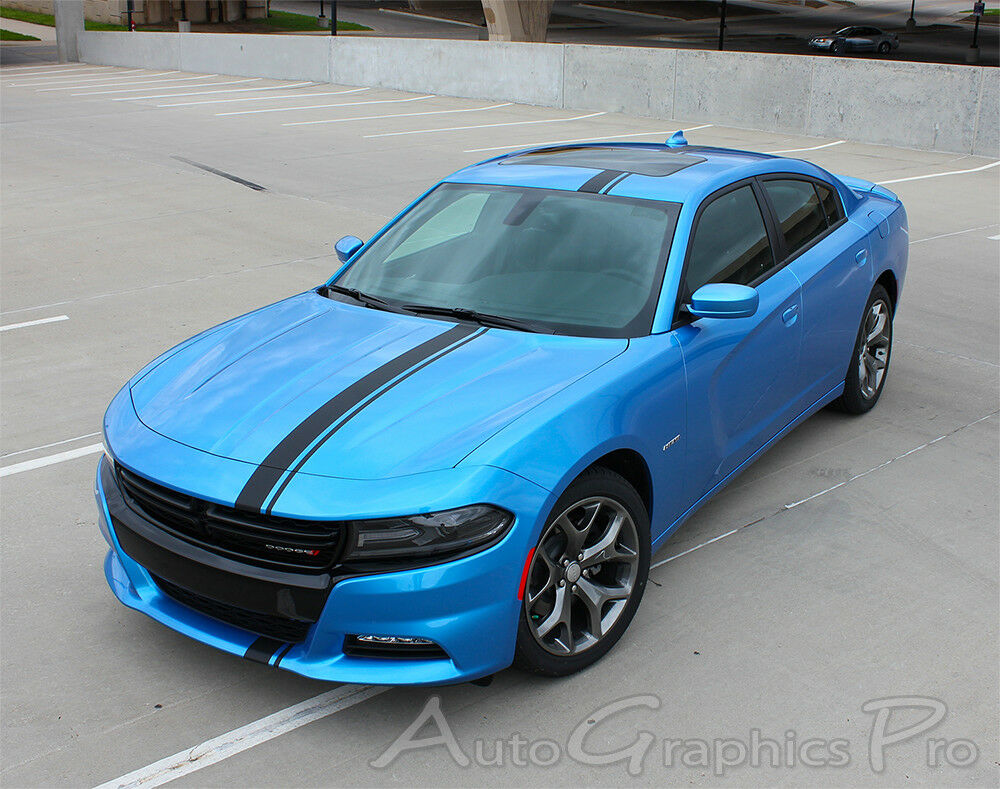 E Rally Stripe Vinyl Graphics Decals 3m Fit Dodge Charger