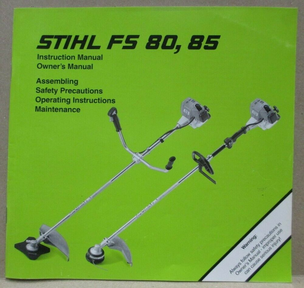 OEM STIHL FS 46 STRING TRIMMER OWNERS OPERATORS INSTRUCTION MANUAL CLEAN  PAGES | eBay