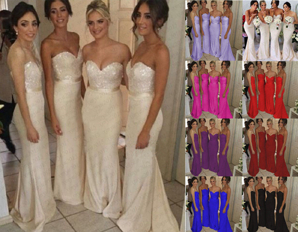 Satin Ball Gown Wedding Dress: New Long Satin Evening Formal Party Ball Gown Prom