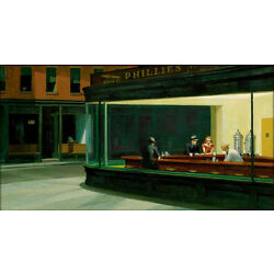Kyпить Nighthawks  by Edward Hopper   Giclee Canvas Print Repro на еВаy.соm