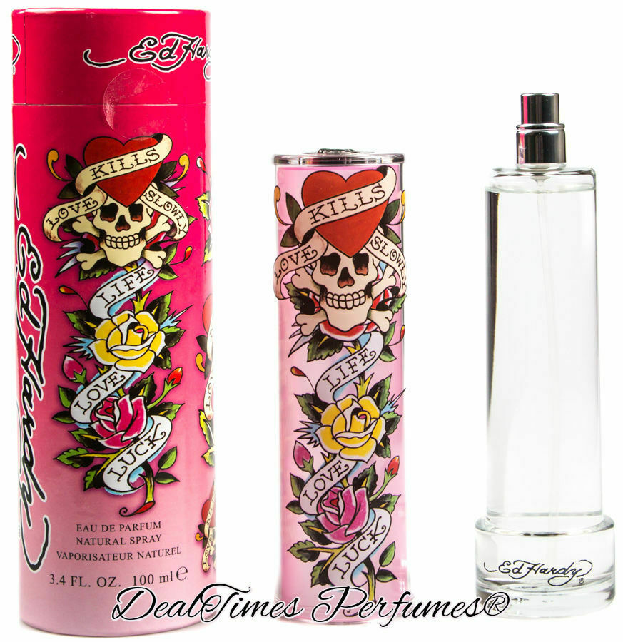 Ed Hardy Perfume For Women By Christian Audigier: Ed Hardy PINK Perfume By Christian Audigier 3.4 Oz EDP Spray For Women NEW