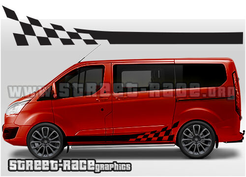 Ford Transit Custom Side Racing Stripes 007 Graphics