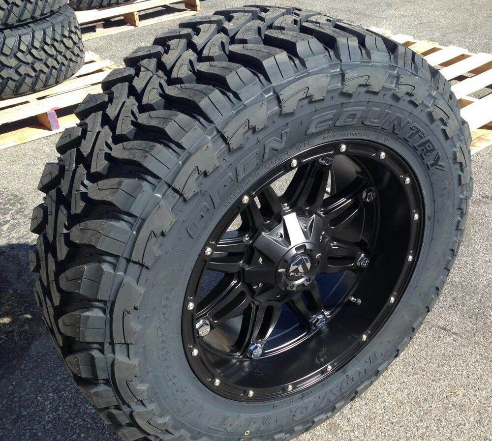 "Ebay Motors Fees >> 20"" 20x10 Fuel D531 Hostage Black Wheels 35"" Toyo MT Tires 8x6.5 Chevy Dodge RAM 