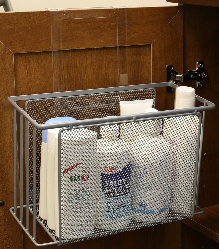 Over door basket organizer cabinet under sink storage - Under sink bathroom storage cabinet ...