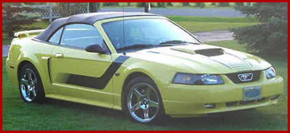 Ford Mustang Boss Graphic Decal 3m Factory Stripe 1999
