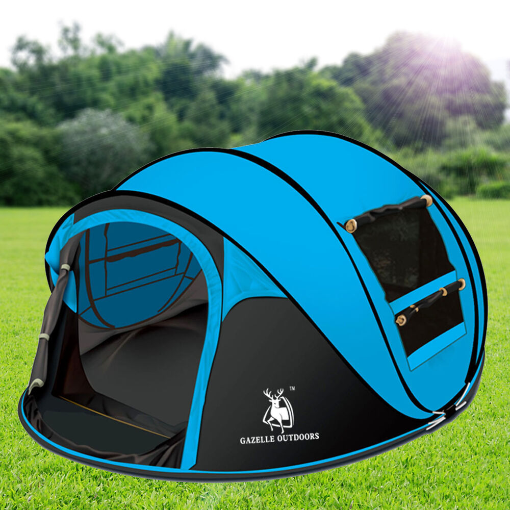 outdoor camping hiking large instant pop up tent double. Black Bedroom Furniture Sets. Home Design Ideas