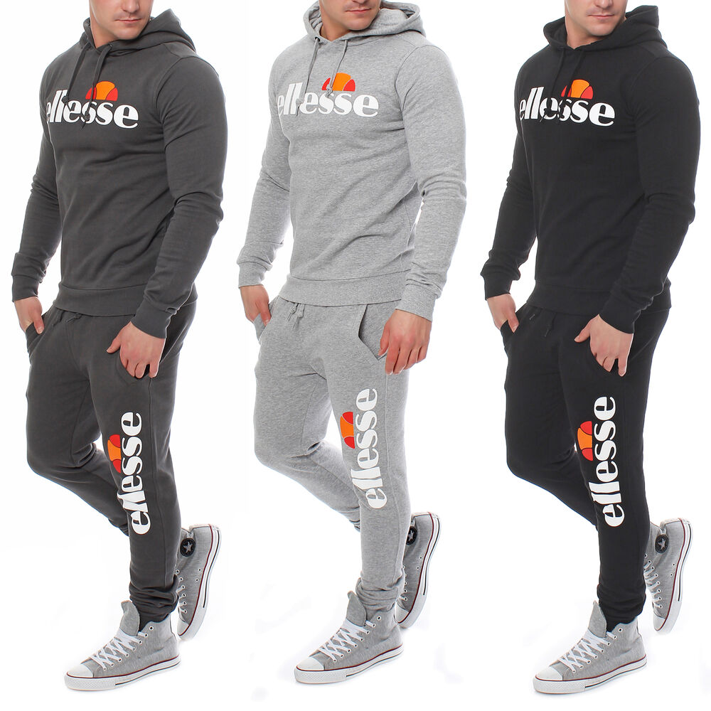 ellesse homme surv tement jogging costume sport costume hoodie pantalon sport entra nement ebay. Black Bedroom Furniture Sets. Home Design Ideas
