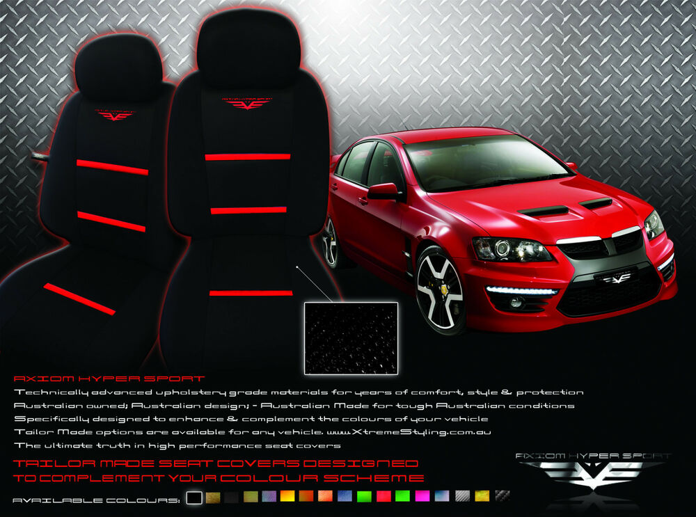 Custom Baby Car Seat Covers >> Tailor Made Seat Covers Holden Commodore SV6 SS SSV Sedan Wagon Ute w/Airbags | eBay