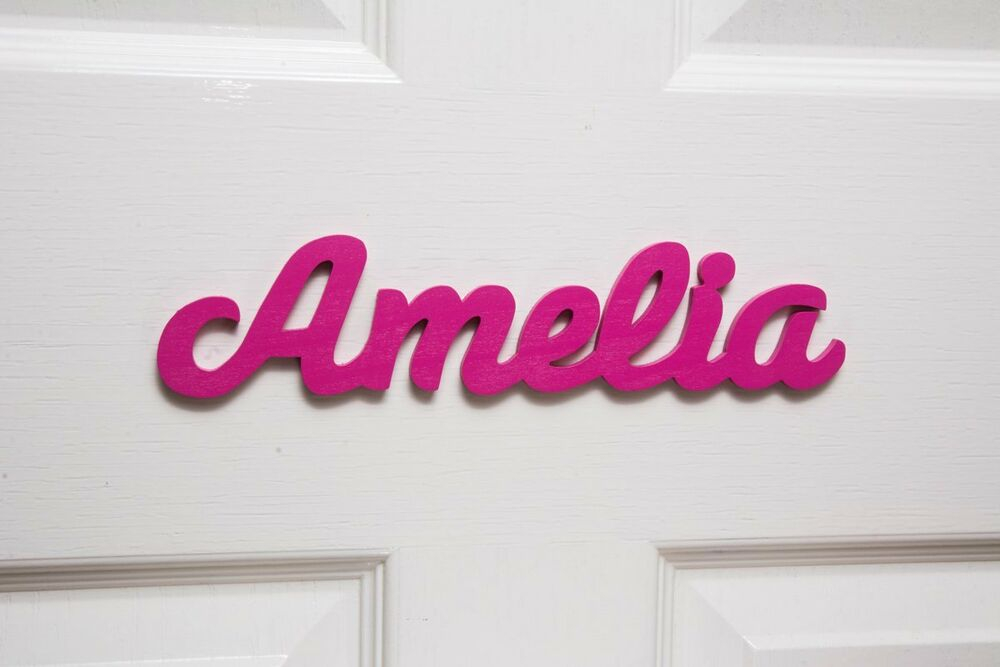 Personalised Names Wooden Name Plaques Door Sign