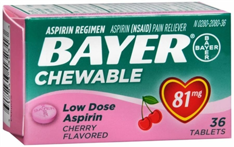 Bayer Chewable Low Dose Baby Aspirin 81 Mg Tablets