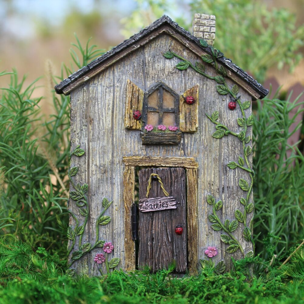Miniature dollhouse fairy garden ladybug fairy door for Outdoor fairy door