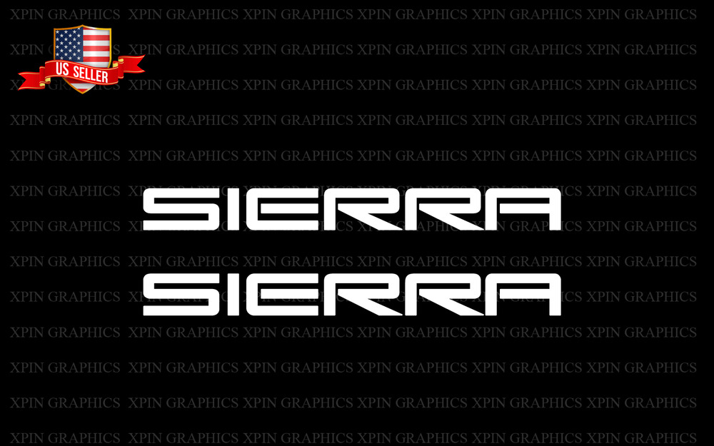 SIERRA 2X Stickers Window Sticker Decal Decals gmc 1500 ...