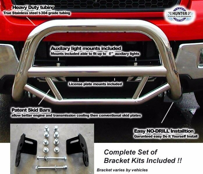2009 - 2013 Ford F150 Super Bull Bar in Stainless Steel chrome push bar | eBay