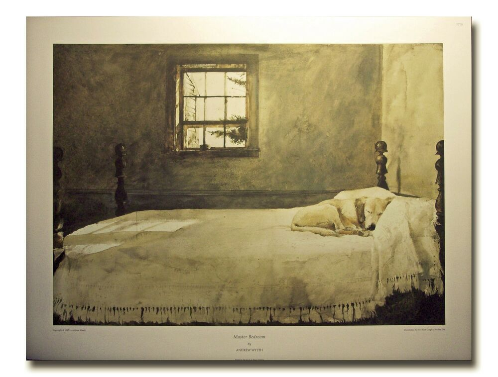 Dog Sleeping In Bed Print